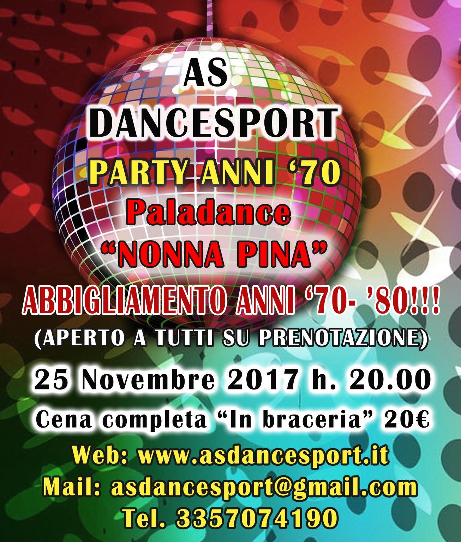 Evento AsDancesport- Party anni 70-