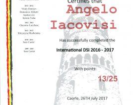 Diploma Danze Latino America & Danze Standard Anno Accademico 2016/2017